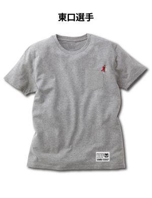 刺繍ポケットTシャツ(GREY)
