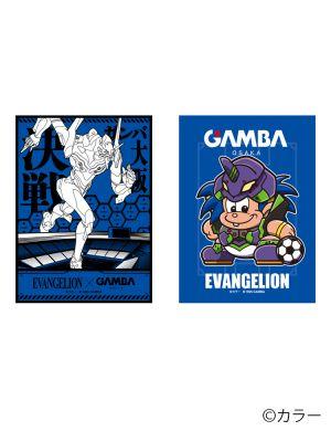 EVANGELION/ガンバ大阪 ステッカー2枚セット